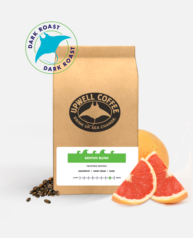 BENTHIC BLEND DARK ROAST™<br> Explore the bold depths of coffee with a twist of grapefruit acidity