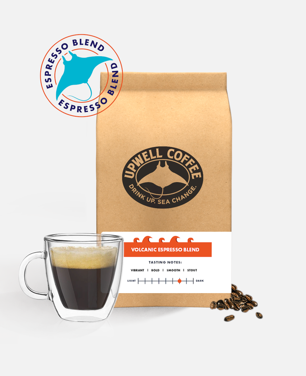 VOLCANIC ESPRESSO BLEND™<br> To build an island sometimes you just need liquid-hot magma