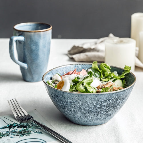 Nordic Ice Blue - Ceramic Tableware - tasall