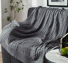 Cotton Knitted Throw - tasall