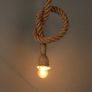 Braided Rope Pendant Light - tasall