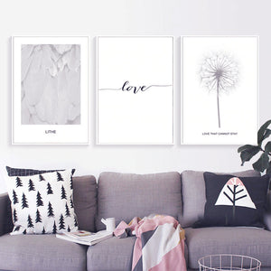 Black And White Canvas Prints - tasall