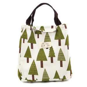 Portable Insulated Canvas Lunch Bag - tasall