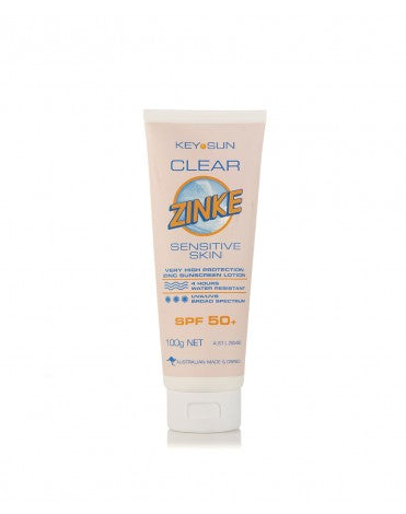 Key Sun Clear Zinke SPF 50+ Sensitive 100g Tube