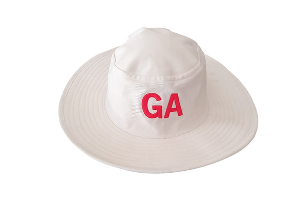 Cricket Hat Wide Brim White