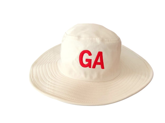 Cricket Hat Wide Brim Cream/Off White