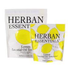 Herban Essentials Lemon Essential Oil Towelettes