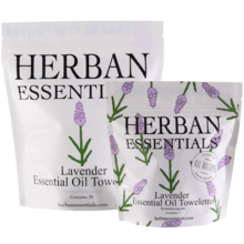 Herban Essentials Lavender Essential Oil Towelettes