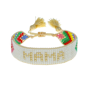 Hart Chevron Rainbow Mama beaded bracelet