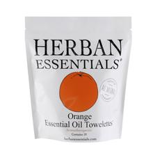 Load image into Gallery viewer, Herban Essentials Essential Oil Orange Essential Oil Towelettes
