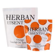 Herban Essentials Essential Oil Orange Essential Oil Towelettes