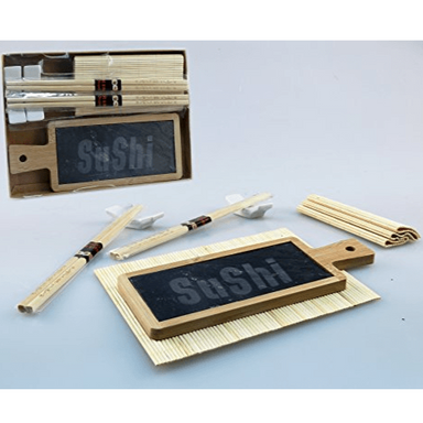 Bamboo Sushi Serving Set - 6pcs - only5pounds.com