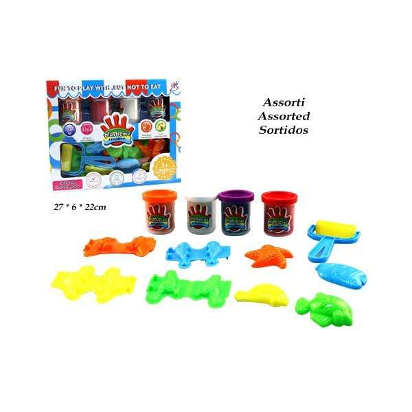 Large Plasticine Creative Set Colourful with moulds - only5pounds.com