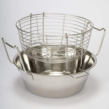 Stainless Steel Fryer With Basket - 26cm - only5pounds.com