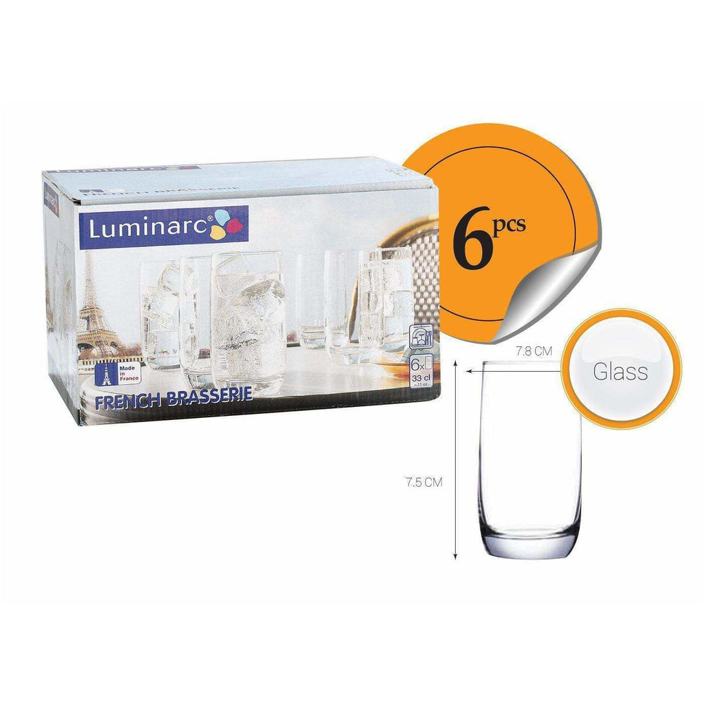 Luminarc 6 pack of Glasses Old Brasserie (33cl) 4690509011162