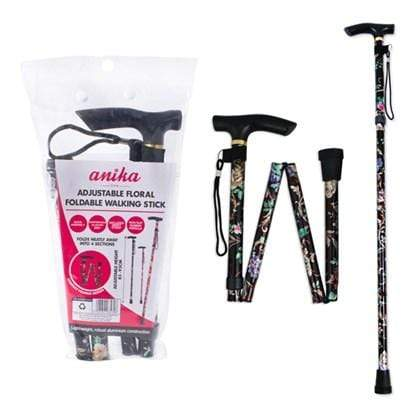 Adjustable Floral Foldable Walking Stick 5025301634308