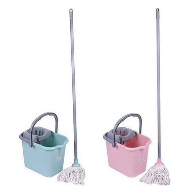 15 Litre Deluxe Mop & Bucket - Assorted Colours - only5pounds.com