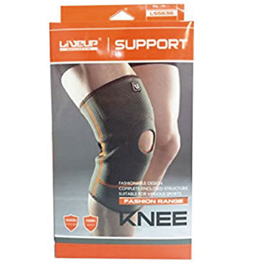 Liveup Sports Grey Open Knee Support - S/M - only5pounds.com