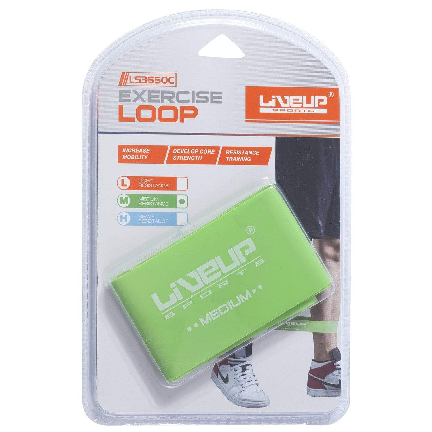 Liveup Sports Resistance Loop Band - Medium Resistance - only5pounds.com