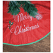 120cm Christmas Tree Skirt - Green Border - only5pounds.com