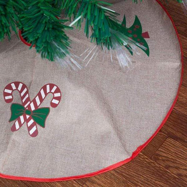 120cm Christmas Tree Skirt - Jute Tree - only5pounds.com