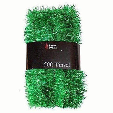 Extra Long Green Tinsel Pack - 50 Ft (15M) - only5pounds.com