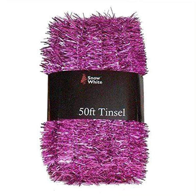 Extra Long Pink Tinsel Pack - 50 Ft (15M) - only5pounds.com