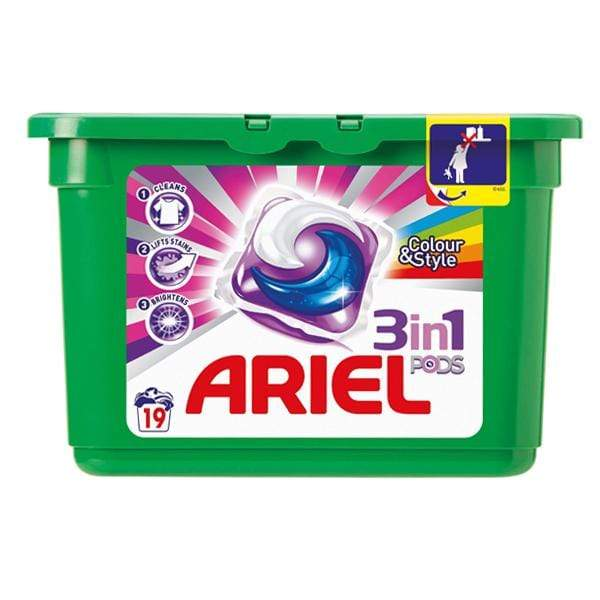 Ariel 3in1 Pods Colour & Style - only5pounds.com