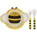 Bamboo Eco Eating Set - Smiley Bee 5010792870809