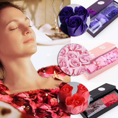 Luxury Rose Flower Soaps Bouquet - Bunch of 18 - only5pounds.com