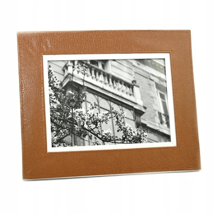 Brown Faux Leather Frame - 10 x 15cm - only5pounds.com