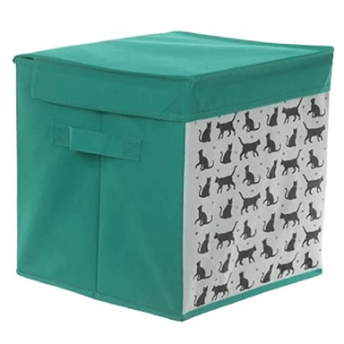 Canvas Storage Box Cat - 28cm - only5pounds.com