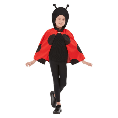 CHILDRENS LADYBIRD HOODED CAPE MEDIUM/LARGE 5020570515310