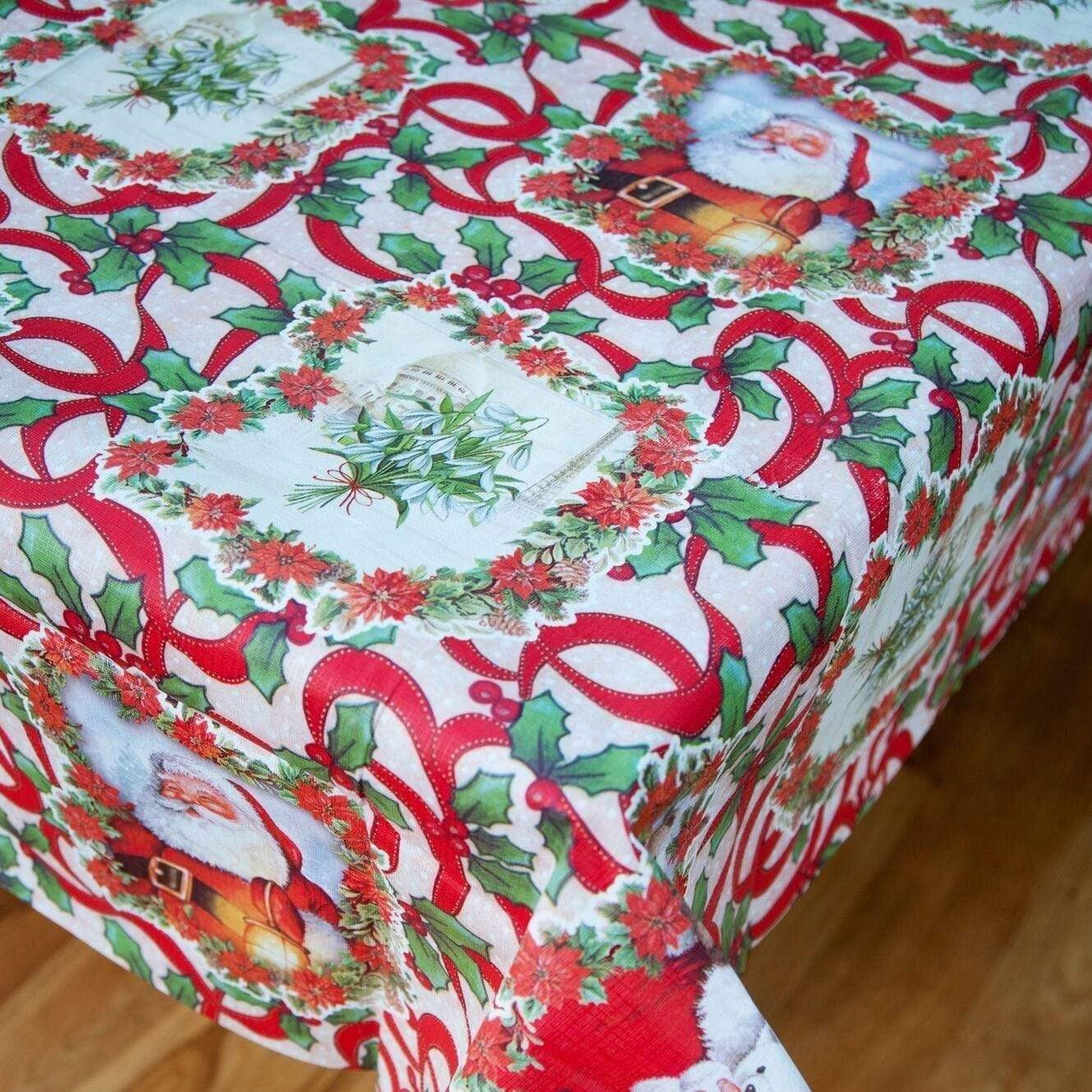 "Christmas Red Santa Tablecloth (54""x 90"") - only5pounds.com"