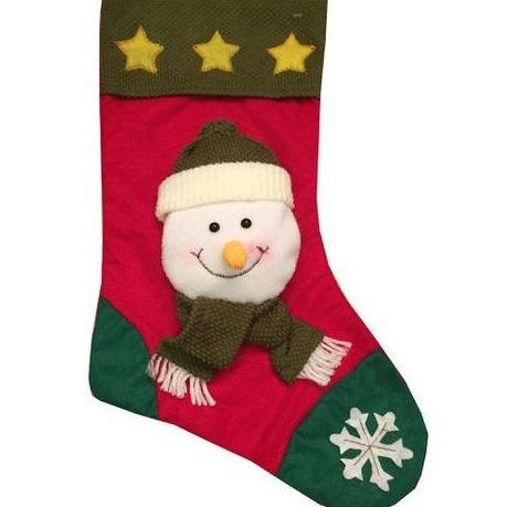 18'' 3D Christmas Stocking - Snowman - only5pounds.com