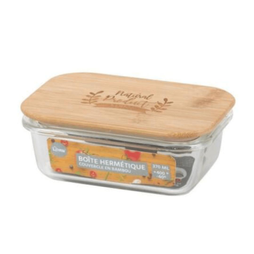 370ML FOOD CONTAINER W/BAMBOO LID 5414883005109