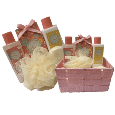 Bath Gift Set 5 Piece - Pink - only5pounds.com