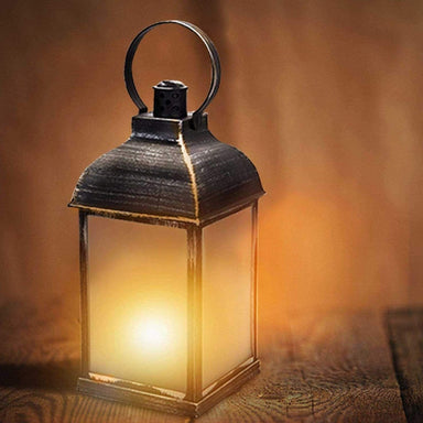 Antique Dancing Flame Effect Lantern - only5pounds.com