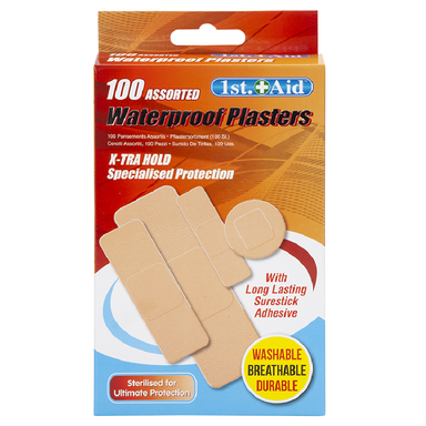 Assorted Ventilated Plasters - Pack of 100 5050565401564