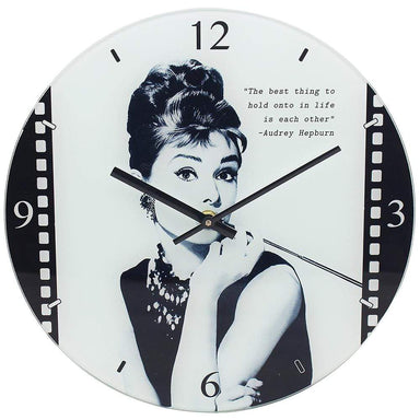 Audrey Hepburn Clock - 30cm - only5pounds.com