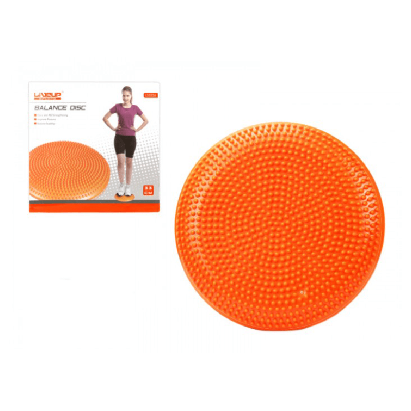 Liveup Sports Balance Disc (33cm) - Orange - only5pounds.com