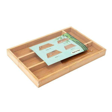 Bamboo Drawer Cutlery Holder - only5pounds.com