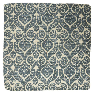 Blue Filigree Style Cotton Printed Cushion Cover - 45 x 45cm - only5pounds.com