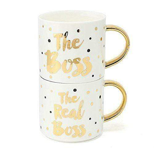 Boss & Real Boss Stack Mugs - Set of 2 - only5pounds.com