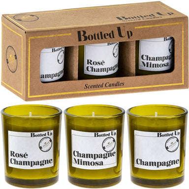 Champagne Candles In Gift Box - Set of 3 - only5pounds.com