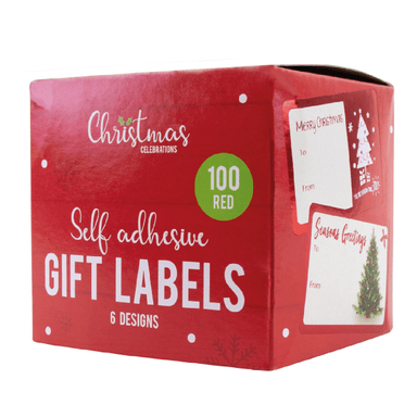 Christmas Gift Self Adhesive Labels Foil - Pack of 100 - only5pounds.com