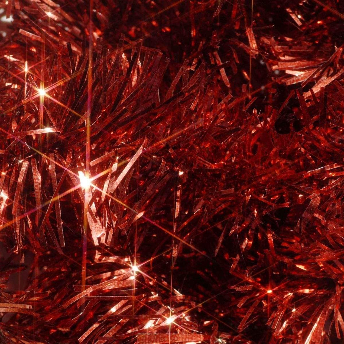 Christmas Red Tinsel - 2m - only5pounds.com