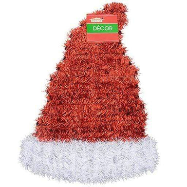 Christmas Santa Hat Tinsel Wall Decoration - 35cm - only5pounds.com