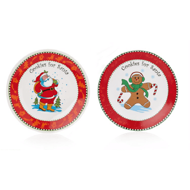 Cookies for Santa 20cm Plate - Assorted Design - only5pounds.com