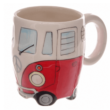 Camper Van Mug - Red - only5pounds.com